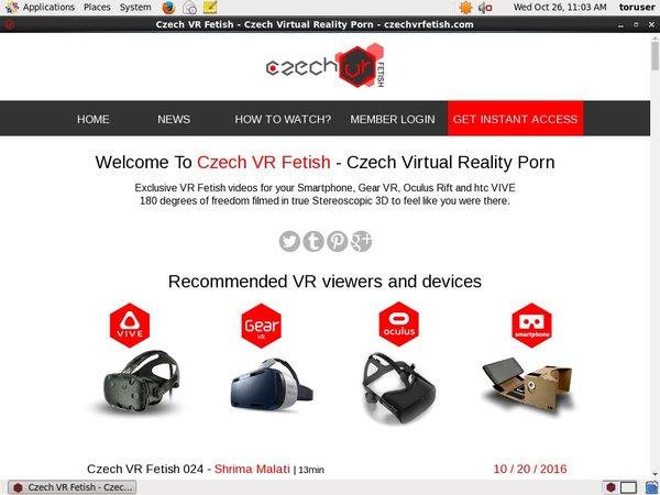 Czech VR Fetish Accounts Passwords