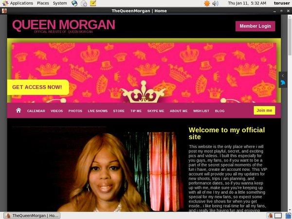 Queen Morgan Paypal Signup