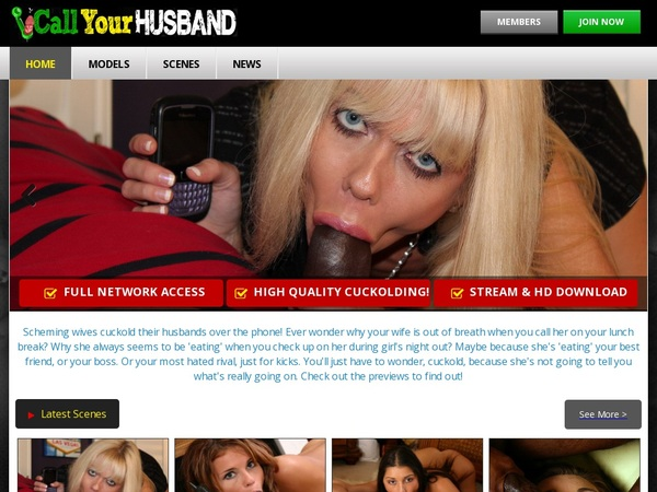 Free Call Your Husband Account Passwords