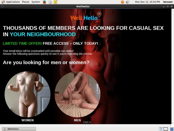 Where To Get Free Well Hello Account
