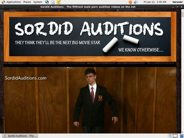 Sordid Auditions With Gift Card