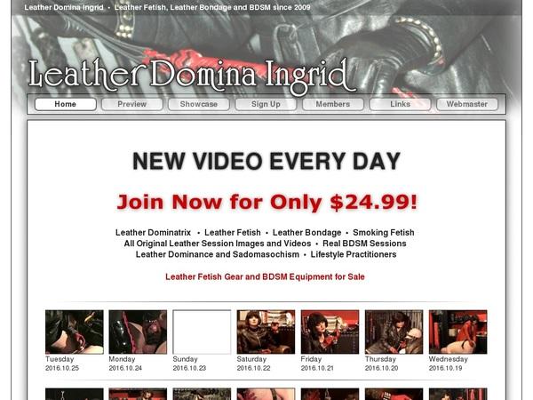 Leatherdominaingrid.com Discount Order